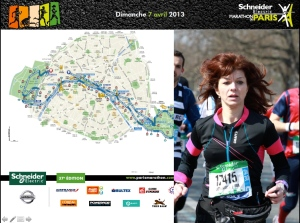 Dominique au marathon de Paris
