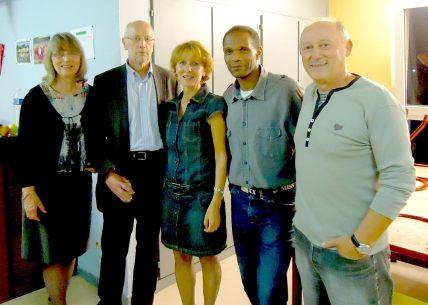 Hedwig, Jean, Francine, Abdel et Roger