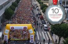 Le départ du marathon du Portugal