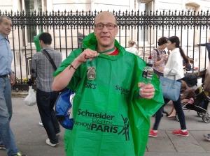 Pascal à l'arrivée de son premier marathon