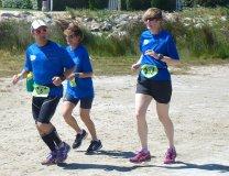 Francine, Sabine et Mamar au 20KM