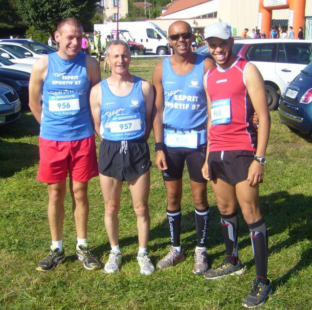 L'équipe du FMAC au départ du Trail de St Quentin