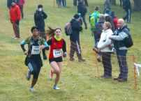 Pauline dans le sprint final du cross court