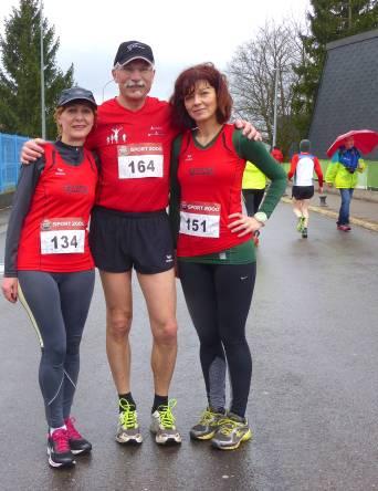 Francine, Bernard et Dominique au départ