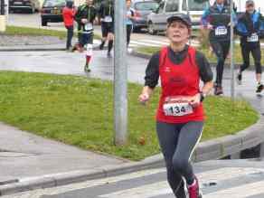 Francine à l'arrivée du 6,5km