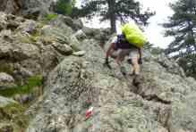 La randonnée qui s'apparente parfois à de l'escalade