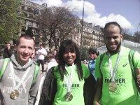 A l'arrivée du marathon de Paris