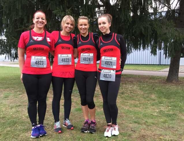 L'équipe seniore féminine se classe 15ème sur 100 équipes du relais x4